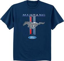 Men's t-shirt Ford Mustang Pony shirt for men navy blue short sleeve tri bar