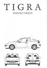 1995 Opel Tigra Technical Finland Sales Brochure
