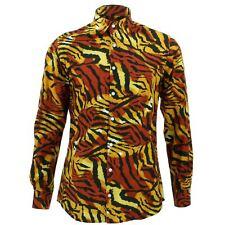 Camisa Hombre Loud ORIGINALS Ajuste a medida tigre naranja Retro Psicodélico