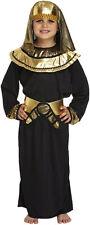 BOYS EGYPTIAN KING PHARAOH TUTANKHAMUN KIDS FANCY DRESS OUTFIT COSTUME 4-12 YEAR