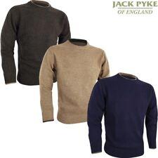 JACK PYKE ASHCOMBE 100% LAMBSWOOL CREWKNIT JUMPER MENS S-3XL HUNTING SHOOTING
