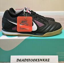 Suprême X Nike Sb Gato Noir Gomme AR9821 001 Homme Taille 12