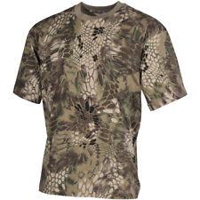 Mfh Camuflaje Caza Algodón Superior Hombres Pesca Senderismo Ejército Camiseta S