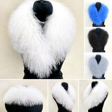 2017 100% Women Real Mongolia Lamb Fur Collar Scarves Shawls Furry Scarf Warm