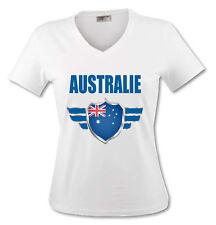 T-shirt Femme Australie avec prénom au dos personnalisé Mondial Football 2018