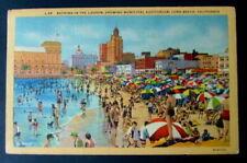 1939 POSTCARD BATHING IN THE LAGOON LONG BEACH CALIFORNIA CA #2230u
