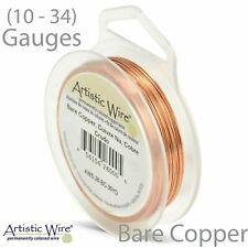 Bare Copper Artistic Craft Wire (10-34 Gauge) Round Copper Craft Wire