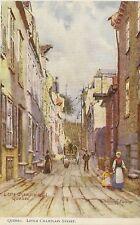 QUEBEC LITTLE CHAMPLAIN STREET ILLUSTRATEUR C.FLOWER