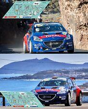 Calcas Peugeot 208 T16 Rally Canarias 2017 3 9 ERC decals Suarez Lopez
