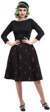 Collectif MAINLINE DELPHINE Vintage MUSIC NOTES Swing Dress Kleid Rockabilly