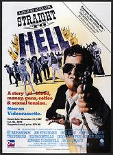 STRAIGHT TO HELL__Original 1987 Trade AD movie promo__JOE STRUMMER_COURTNEY LOVE