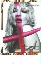 PUBLICITE ADVERTISING  2007  YVES SAINT LAURENT   Kate Moss   rouges à lèvres GM