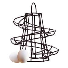 Kitchen Storage Spiral Helter Display Egg Holder Stand Rack Holds Up To 18 Eggs