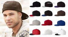 Flexfit - Structured Flat Bill Visor Baseball 6-Panel Hat Wool blend Cap- 6210FF