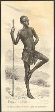 CONGO GABON UN BATEKE DESSIN SIROUY IMAGE DE 1889