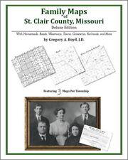 Family Maps St. Clair County Missouri Genealogy MO Plat