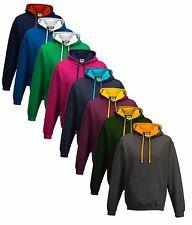 Contrast Colour College Varsity Hooded Sweat Sweatshirt Hoodie Hoody
