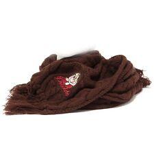 0122S sciarpa donna DUCK FARM 7DWARFS DISNEY BRONTOLO marrone brown scarf woman