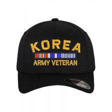 Flexfit BASEBALL Military Cap Hat KOREA ARMY VETERAN RIBBON