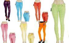 NWT Womens Skinny Jeans Acid wash Stretch Distressed Slim Denim 1 3 5 7 9 11 13