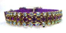 ~ Amethyst Angel ~ Crystal Rhinestone Dog Collar - Beautiful!  #335