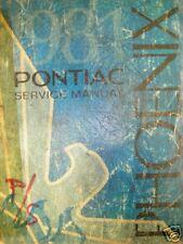 1981 PONTIAC PHOENIX GM SHOP REPAIR MANUAL SERVICE