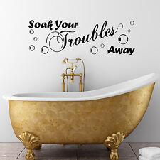 Soak Your Troubles Away Pegatina Pared Del Baño frases Decoración Calcomanías