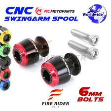 6mm Rear ATOM Swingarm Spools Sliders For Yamaha YZF R1  1999-2014 99 00 01 02
