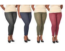 Plus Size Women's Denim Jean Print Leggings Jeggings