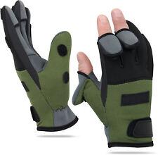 Eg /_ 3//5 Cut-Finger Wasserfest Angel-Handschuhe Jagd Antirutsch Fausthandschuh