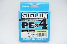 SUNLINE SIGLON PE X4 150m 165yds Braided Fishing Line Select LB Free Shipping
