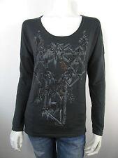 Guess Pull Pullover Top Sweater W24R33 Grau Nieten Neu