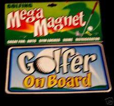 Sports Vehicle Car Truck Van Magnet Golf Golfer Ball