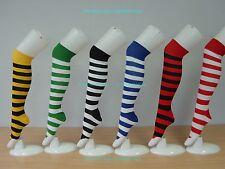Knee High Wide Stripe Socks Lady Women Girl Party Sexy