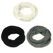 Ladies Knitted Snood Grey/White/Black 90265