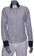 Chemise EDEN SHIRT Blanc Bleu pour FEMME taille L  chemisier haut tailleur NEUF
