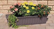 Blumenkasten mit Wasserspeicher Blumentopf Balkonkasten Bewässerung anthrazit