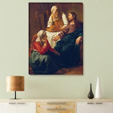 """WANDKINGS Leinwandbild Jan Vermeer - """"Christus im Haus von Maria und Martha"""""""