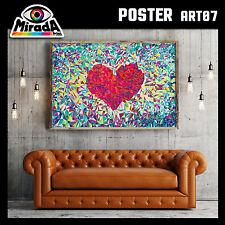POSTER ART 07 HART CUORE ARTE MODERNA CARTA FOTOGRAFICA 50x35 70x50 100x70