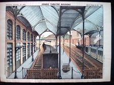 Pellerin Imagerie D'Epinal-Grand Theatre Nouveau No 1654 Train Station Inv1766