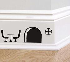 SOURIS TROU Table Chaises autocollant Art IMAGE Humour Drôle plinthe