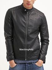 Black Genuine Lamb Leather Custom Made Motorcycle Biker Jacket Suit Blazer BK803