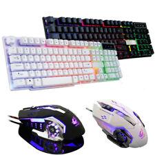 Fashion Pro Crack LED Illuminated Backlit USB Wired PC Rainbow Gaming Keyboard