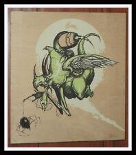 GREG SIMKINS SDCC 2010 PRINT ON WOOD LOWBROW ART S/N #1/50 SOLD OUT & RARE!