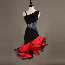 Latin Dance Dress Salsa Tango Cha cha Ballroom Rhinestone Competition Dress 416