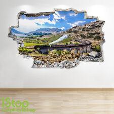 TRENO a vapore Wall Sticker 3d Look-per Ragazzi Bambini Camera Da Letto Treno murali z209