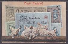 "Austria Sc 90 on 1906 Austrian Currency PPC, ""Happy New Year"""