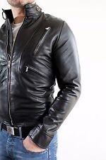 ★Giacca Giubbotto Uomo in di PELLE 100% Men Leather Jacket Veste Homme Cuir e5ae