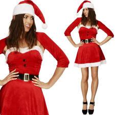 femmes Santa Déguisement de Minette Mlle mme. Père Noël SMIFFYS 20770
