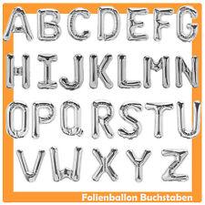 Lettres diapositives ballons 40 cm/80 cm Argent A-Z ballon anniversaire Helium